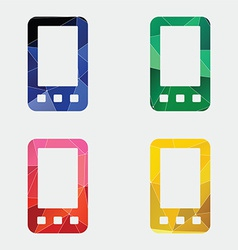 Mobile phone icon Abstract Triangle vector