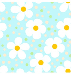 Modern Light Seamless Pattern with Camomiles vector image