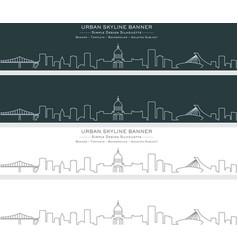 montreal single line skyline banner vector image