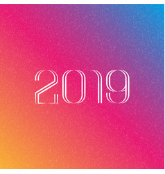 number 2019 in monogram style against the vector image