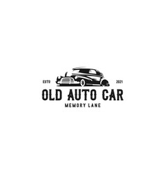 old auto car logo vector image