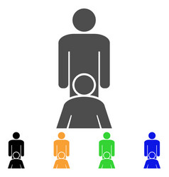 Oral sex persons icon vector