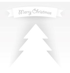 paper christmas tree applique vector image