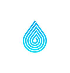 Pixel water logo icon design vector