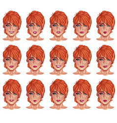 portraits of beatuful woman with red hair vector image