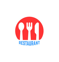 red round simple restaurant logo vector image