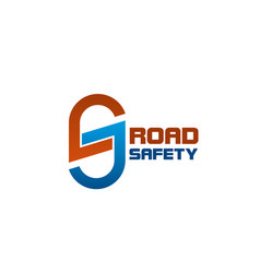 s letter icon for road safety vector image