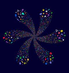 Secrecy symbols swirl twist vector