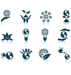 Set of Earth day icons vector