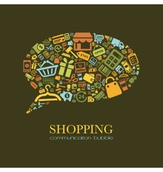Shopping communication bubble vector