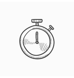 Stopwatch sketch icon vector