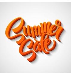 Summer sale message on orange background vector image vector image