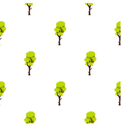 tall green tree pattern flat vector image