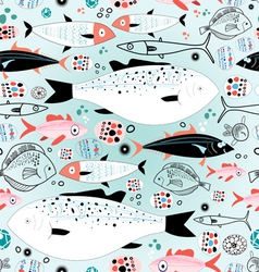 Texture sea fish vector