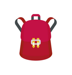 Trendy backpack icon flat style vector