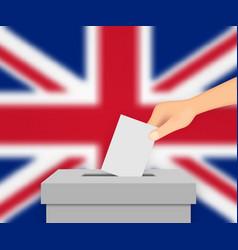 united kingdom election banner background vector image