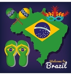 Welcome to brazil poster vector