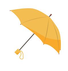 Yellow umbrella isolated on white background vector