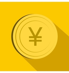 Yen icon flat style vector image