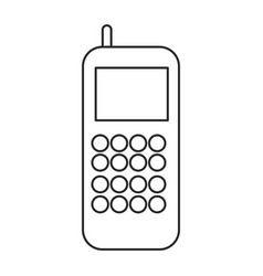 cellphone call communication gadget outline vector image vector image
