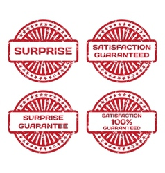 Grunge Rubber Stamp Set Satisfaction Guarantee vector image