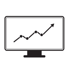 marketing monitor icon on white background vector image