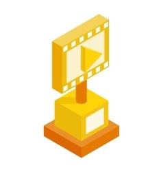 Movie award isometric 3d icon vector image