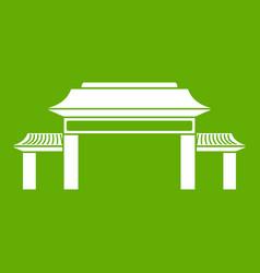 pagoda icon green vector image vector image