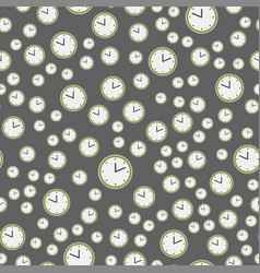 watch clock dial colorful seamless pattern time vector image