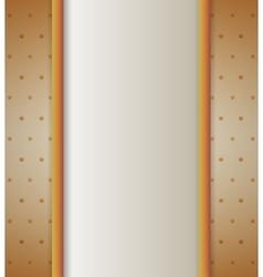 Background with bow vertical gold vector