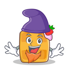 elf waffle character cartoon design vector image vector image