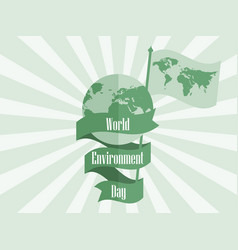 world environment day 5th june planet earth with vector image vector image