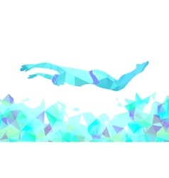 Butterfly Swimmer Color Silhouette Sport swimming vector image vector image