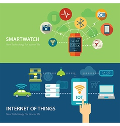 concepts for smart watch and internet of things vector image