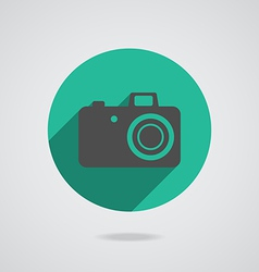 Hipster black photo camera icon element vector image vector image