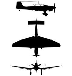 Junkers Ju 87 B2 Stuka vector image vector image