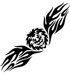 Lion and symmetric tribals - vector image vector image