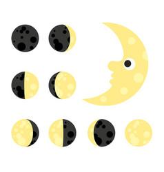 moon astrology star night space sky cartoon vector image