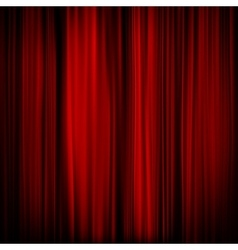 Part of a red curtain - dark EPS 10 vector image