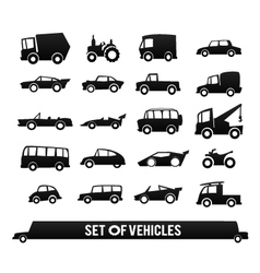 Set of vehicles Cars icons set Transport icons vector image vector image