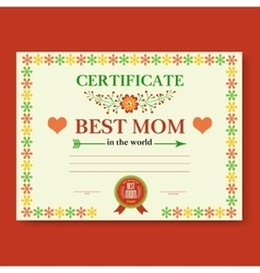 template of the certificate congratulations vector image vector image