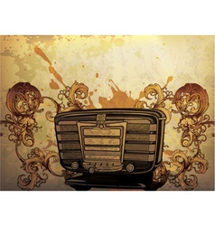 vintage music poster vector image vector image