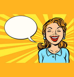 woman pretty smiling vector image