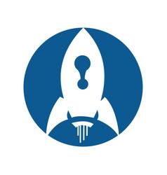 Abstract rocket logo design template vector