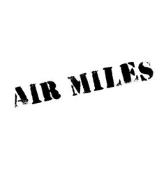 air miles rubber stamp vector image vector image