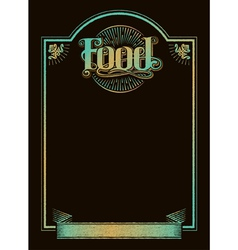 Chalkboard Calligraphy Food Menu Banner vector image vector image