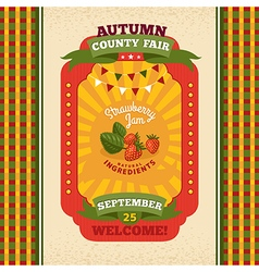 County fair vintage invitation card vector image vector image