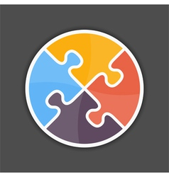 Puzzle Circle vector image vector image