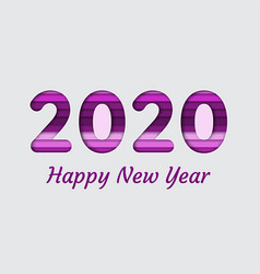 2020 happy new year greeting card invitation in vector image