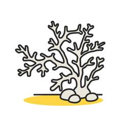 Aquarium plant color icon vector